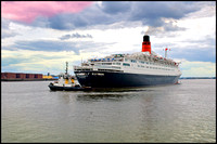QEII on the Mersey